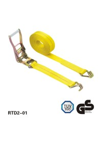 2 inch×27 feet BS 11000lbs Ratchet Tie Down and J hooks