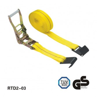 2 inch×30 feet BS:10000lbs Ratchet Tie Down with Flat hooks