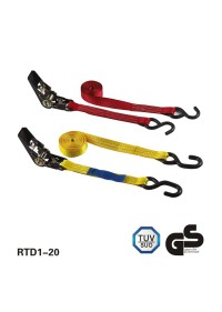 1inch x 15 feet BS:1760lbs Ratchet buckle tensioner with S hooks