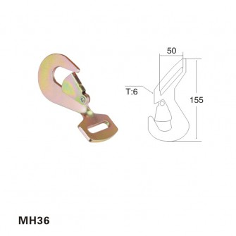 2 inch 5T flat twisted snap hook