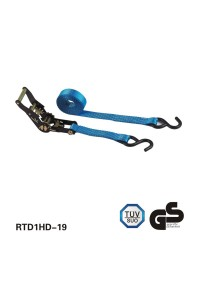 black e-coating ratchet cravate avec deux s hooks blue sangle