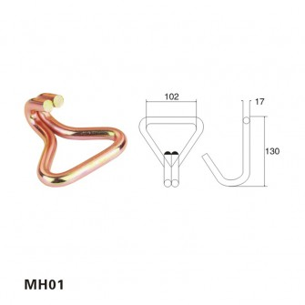 4 inch Wire double J hook for tie down