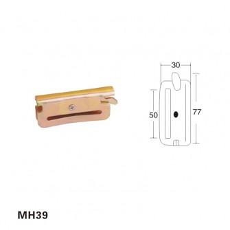 2 inch metal hook E-Track fitting