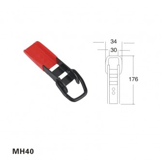 1.5 inch red metal hook for cargo control