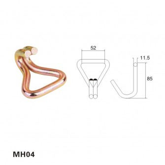 2 inch metal steel galvanized double J hook MH04