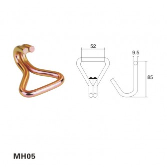 2 inch B.S 6600 LBS metal wire hook with zinc galvanized MH05