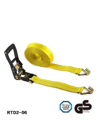 Lashing Truck Black E-Coating ratchet tie down with yellow strap