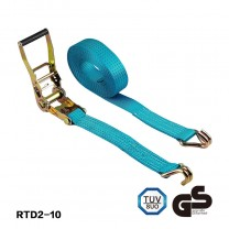 2 inch Polyester tie down ratchet lashing cargo strap