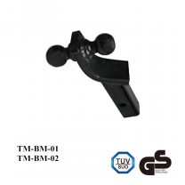 Dual ball ball mount - 2  CM & 2-5/16  Inch black trailer ball mount