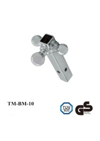 3 Chrome Multi-Ball Trailer Hitch Ball Mount