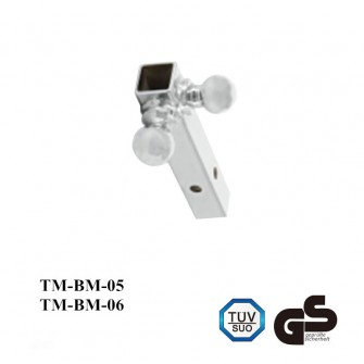 Trailer multiple ball mount with hollow shank