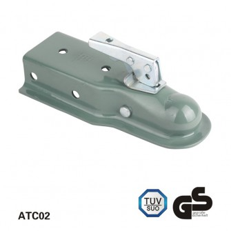 3,500 lbs Straight Trailer Couplers, Zinc Plating Finish