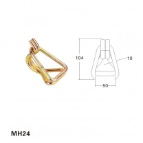 2 inch metal swan hook with Keeper for cargo lashing